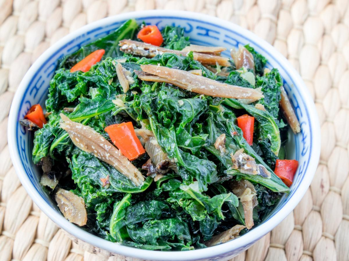 Kale Anchovy Salad Healthy Recipe