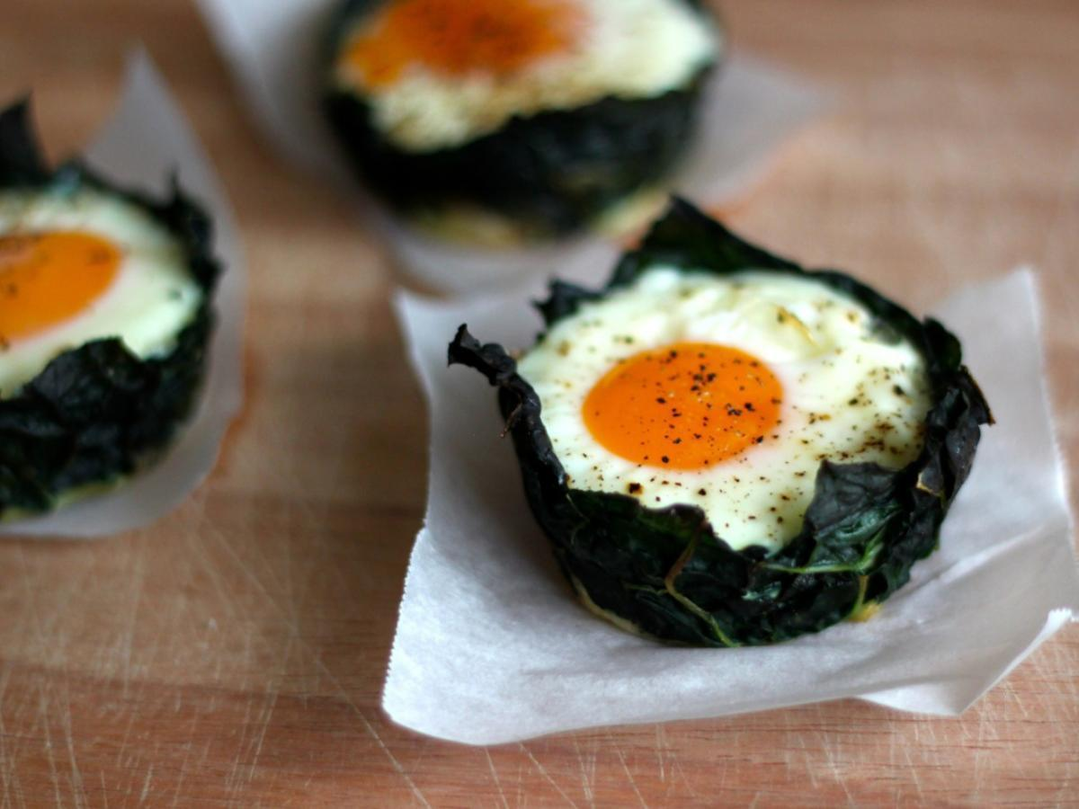 Kale and Egg Cups Healthy Recipe