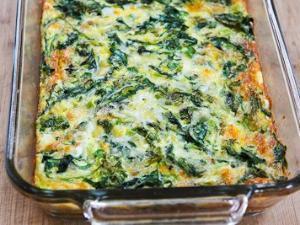 Kale, Mozzarella, and Egg Bake Healthy Recipe