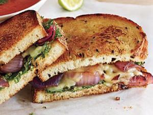 Kale & Onion Grilled Cheese Healthy Recipe
