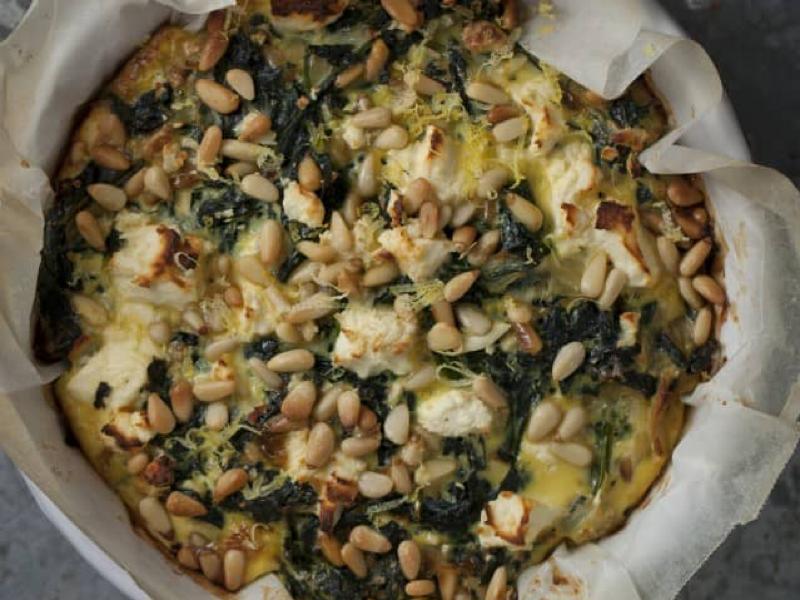 Kale spinach feta pie Healthy Recipe