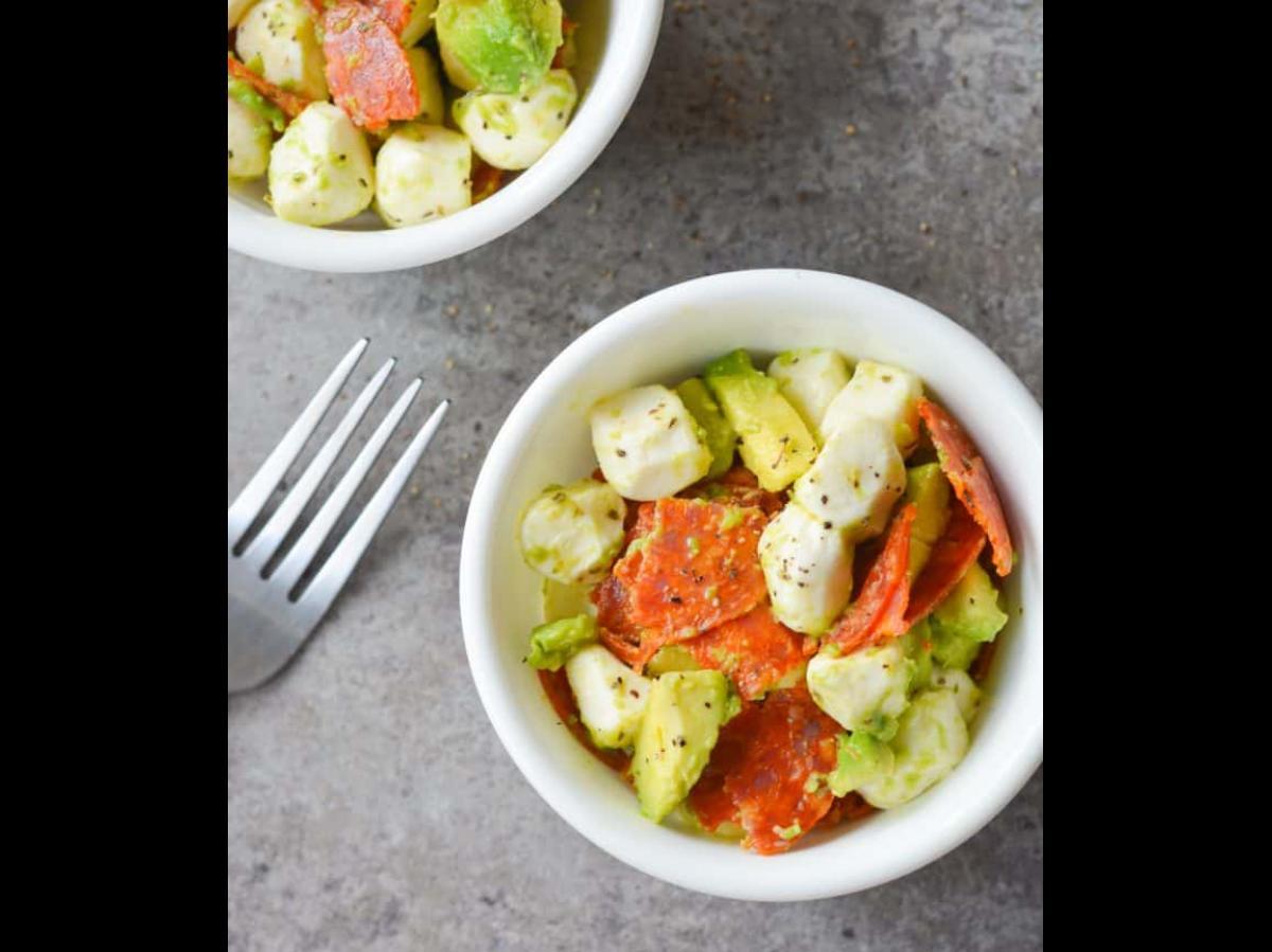 Keto Avocado Pepperoni Salad Healthy Recipe