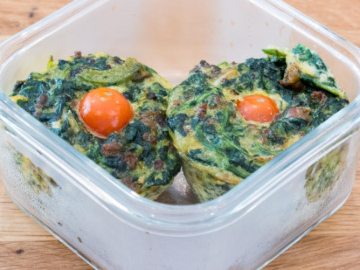 Keto Spinach and Sausage Breakfast Muffins Healthy Recipe