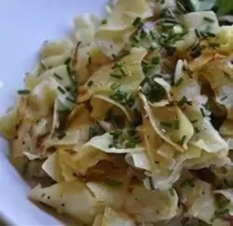 Kohlrabi and Egg Noodles Healthy Recipe