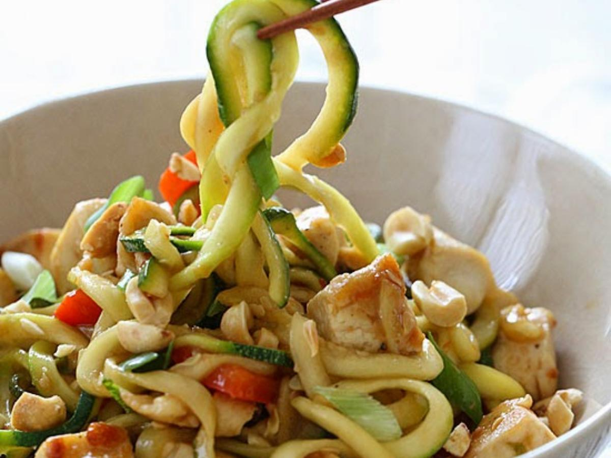 Kung Pao Chicken Zoodles for Two Healthy Recipe