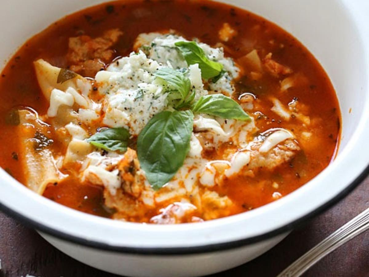 Lasagna Soup Healthy Recipe