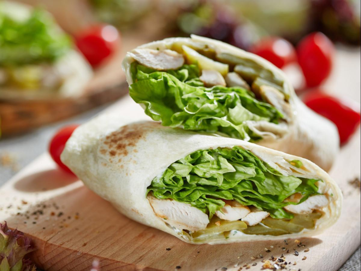Lavash Chicken Wrap Healthy Recipe
