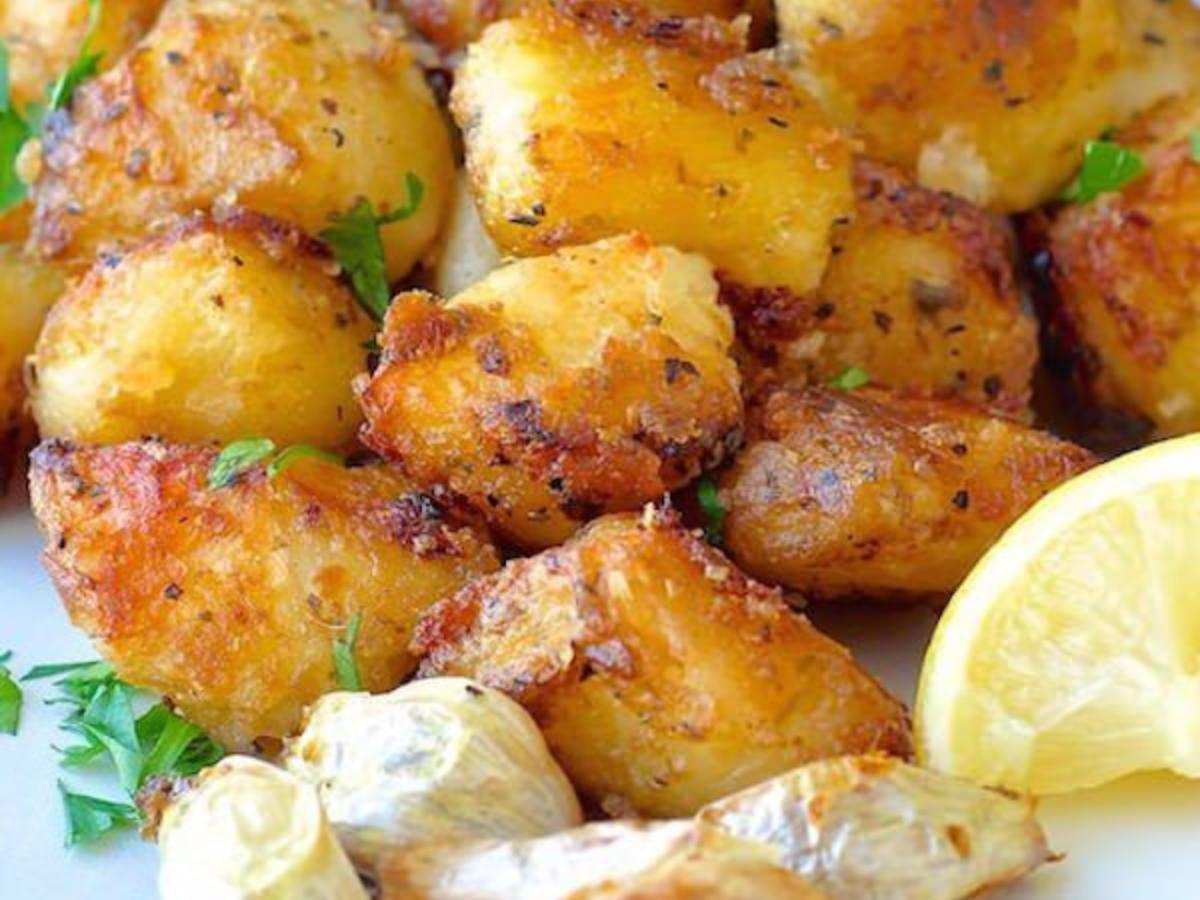 Lemon and Herb Roasted Potato Nuggets Healthy Recipe