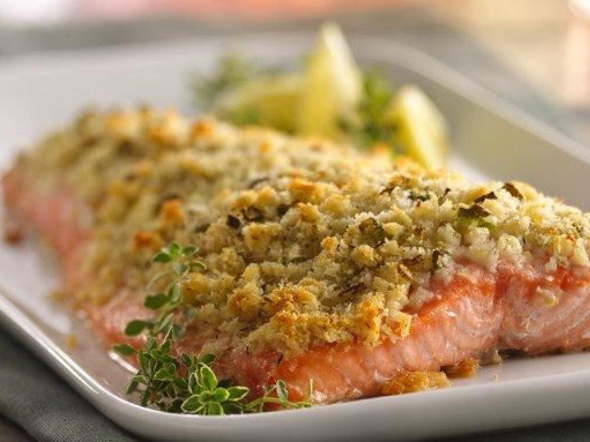 Lemon and Parmesan Crusted Salmon Healthy Recipe