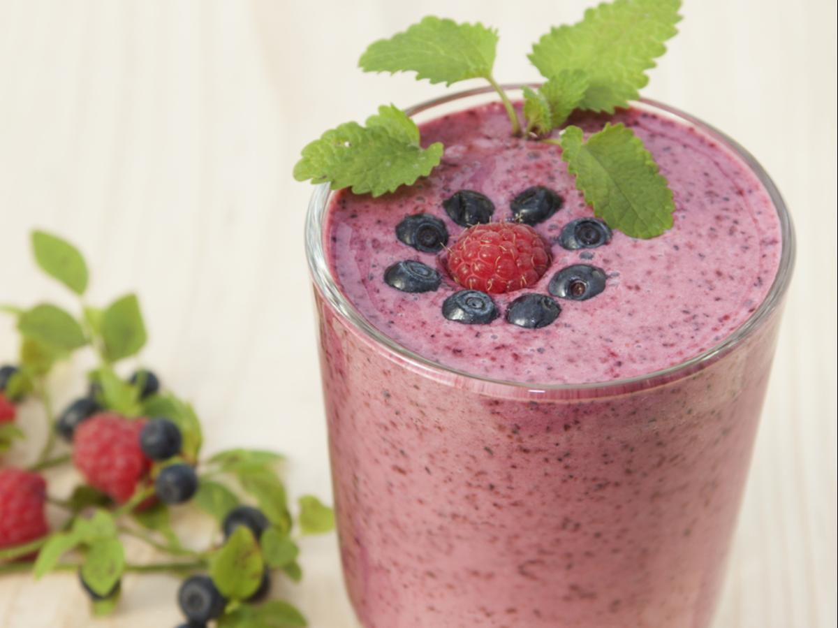 Lemon, Berry, Honey Smoothie Healthy Recipe