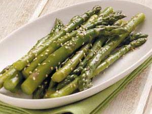 Lemon-Sesame Asparagus Healthy Recipe