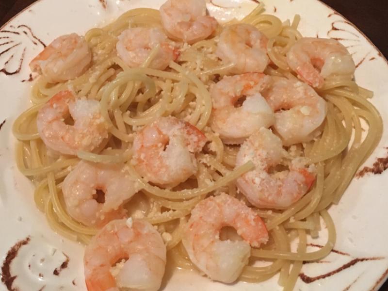 Lemon Zest Shrimp Over Spaghetti Healthy Recipe