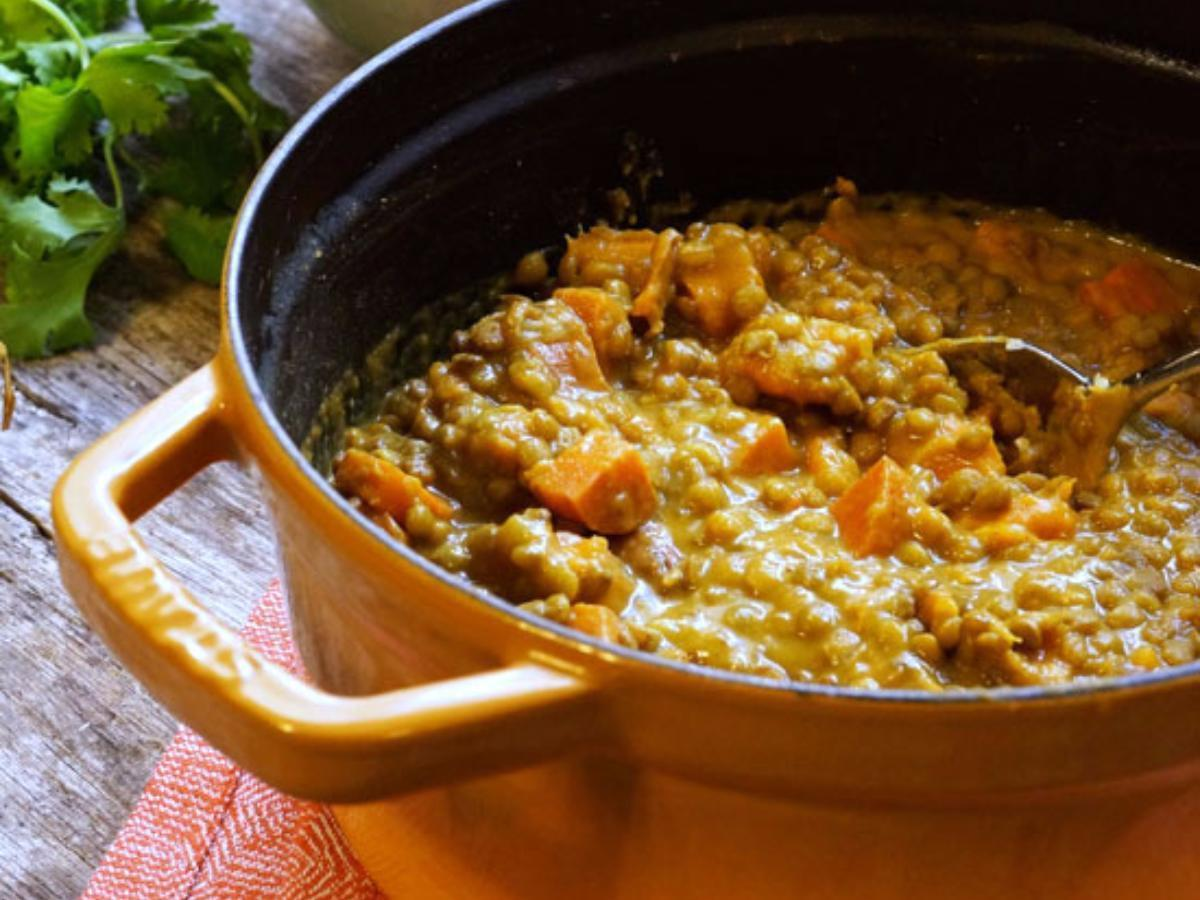 Lentil and Sweet Potato Curry Healthy Recipe