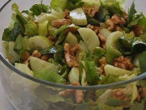 Lettuce Cucumber Walnut Salad  Healthy Recipe