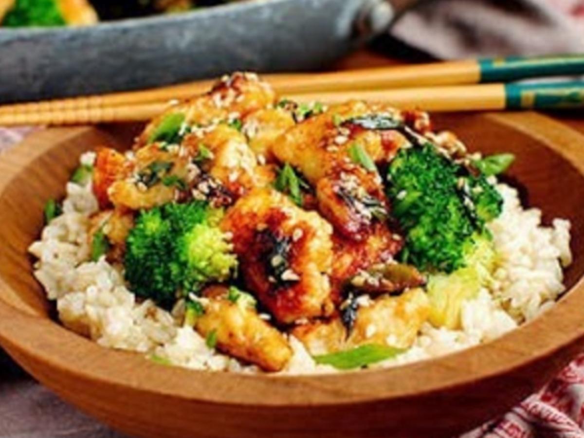 Lighter Sesame Chicken Healthy Recipe