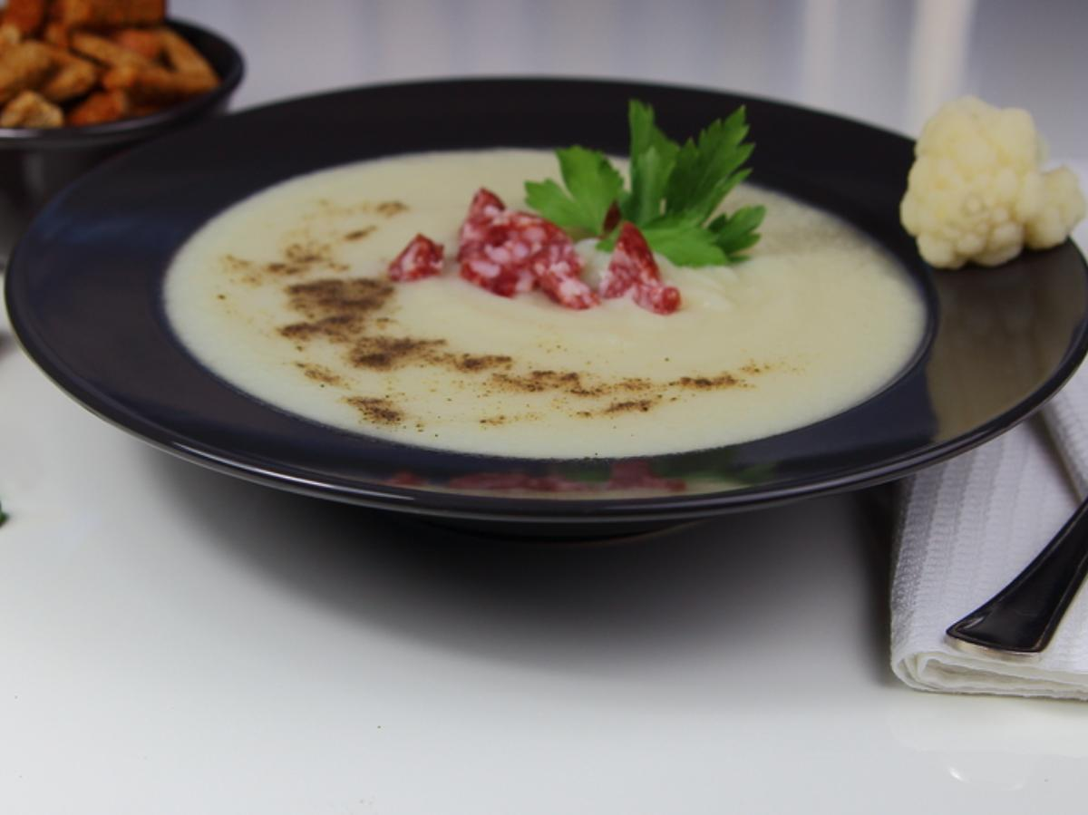 Low Carb Cauliflower & Ham Soup Healthy Recipe