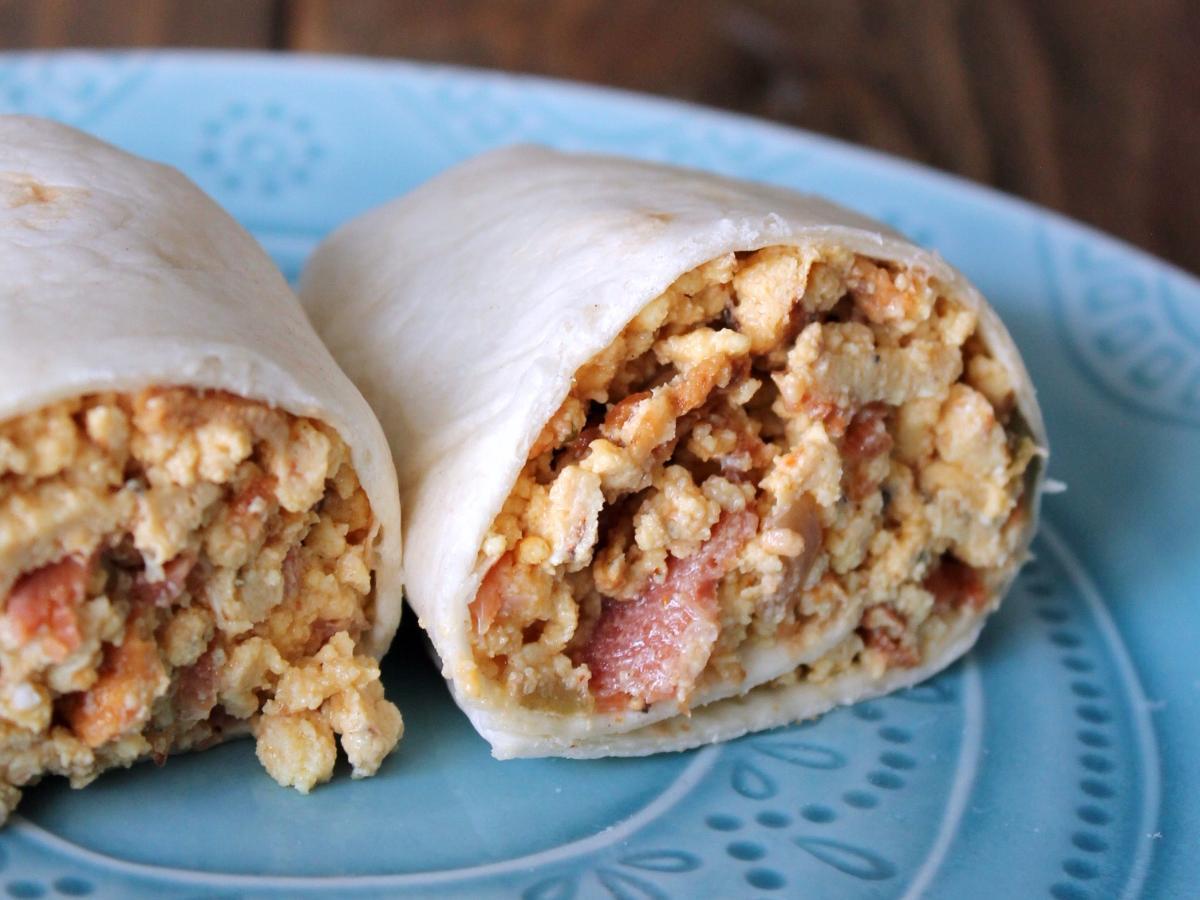 Make-ahead Bacon and Cheese Breakfast Burritos Healthy Recipe