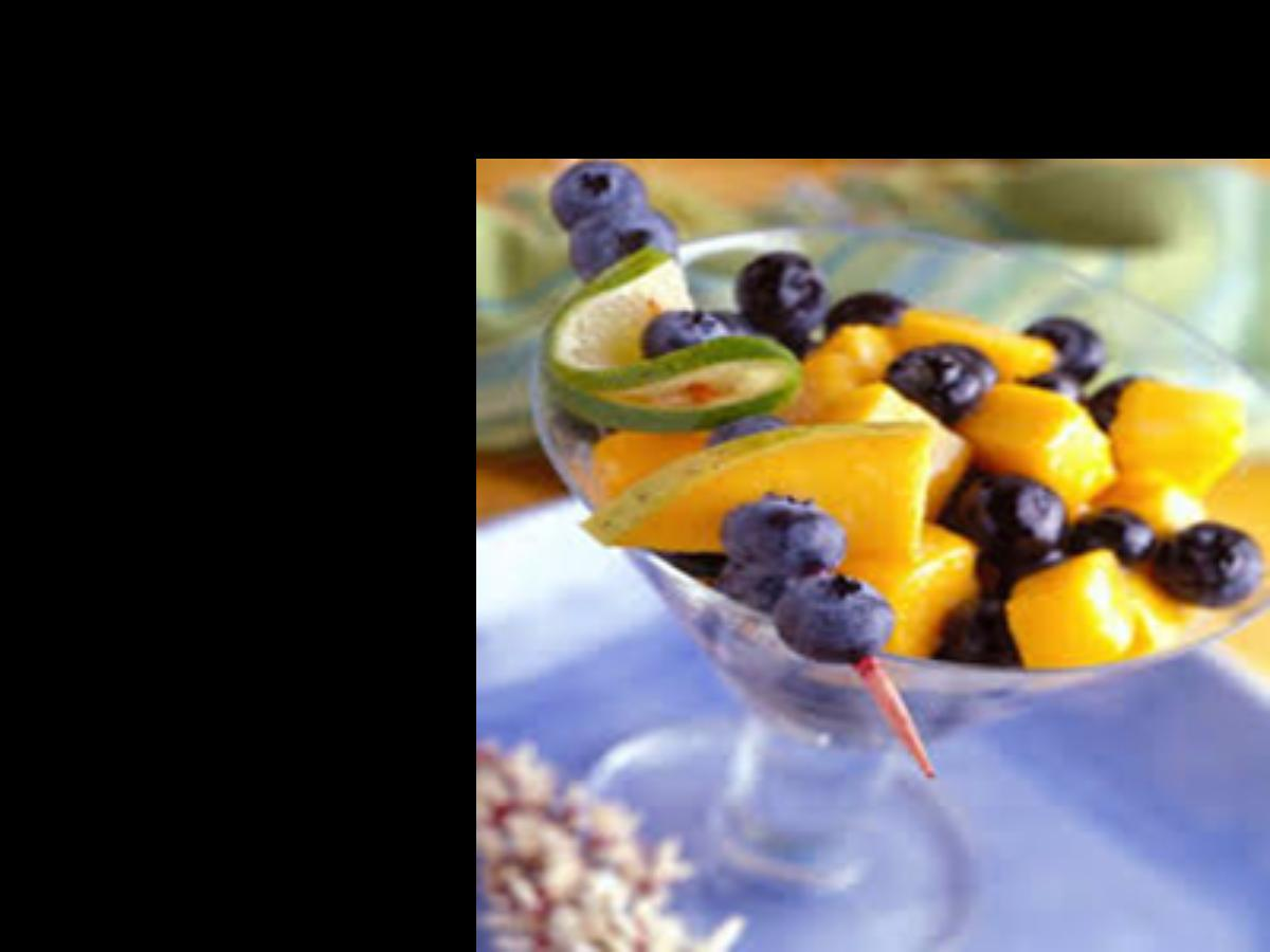 Mango, Blueberry, and Ginger Fruit Salad Healthy Recipe