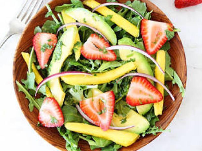 Mango Strawberry Arugula Salad Healthy Recipe