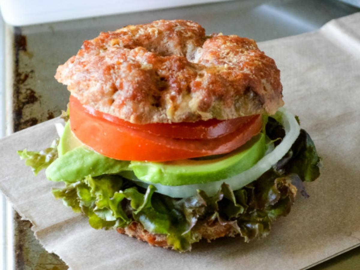 Meat Bagel Healthy Recipe