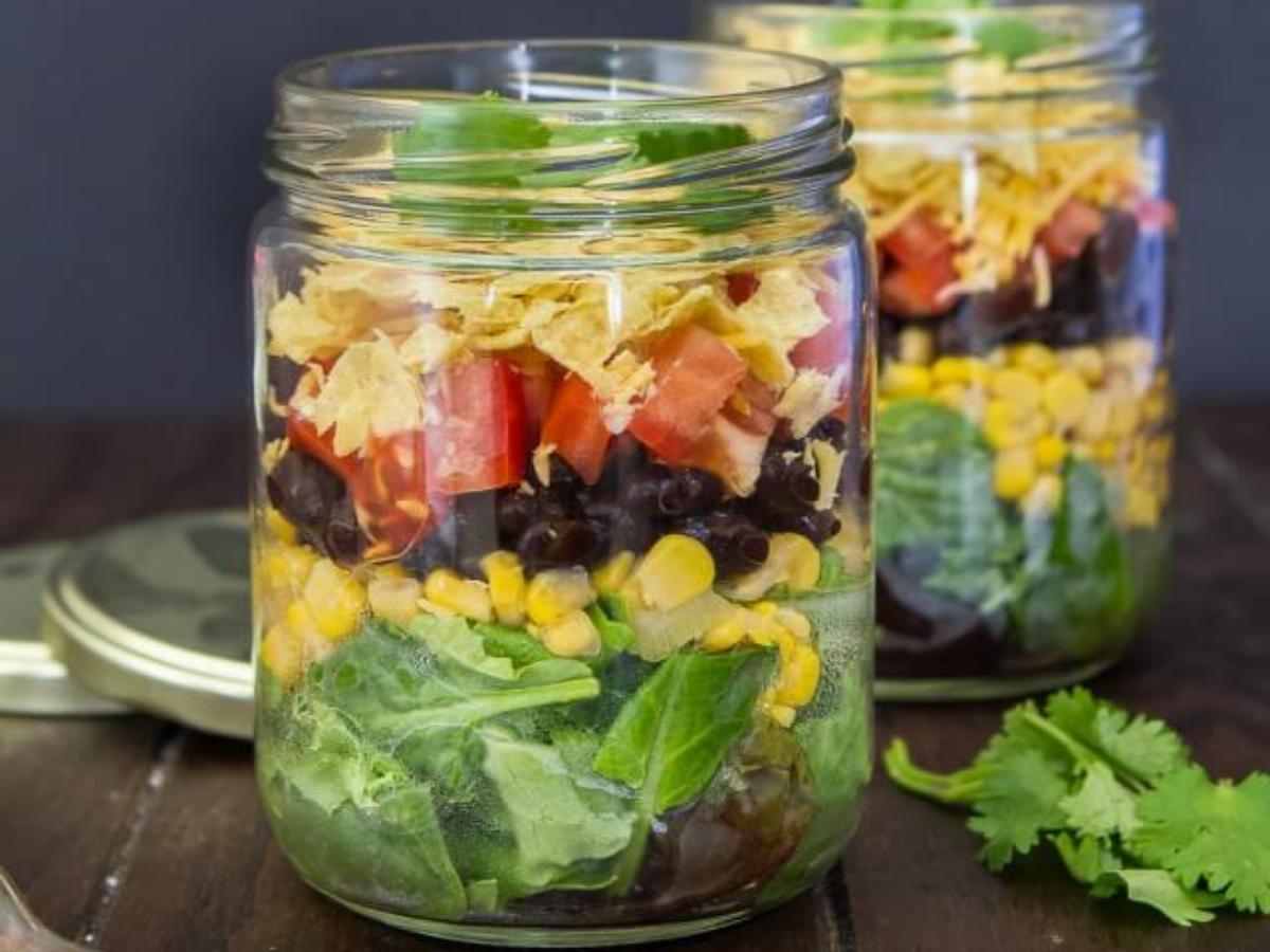 Mexican Salad in a Jar Healthy Recipe