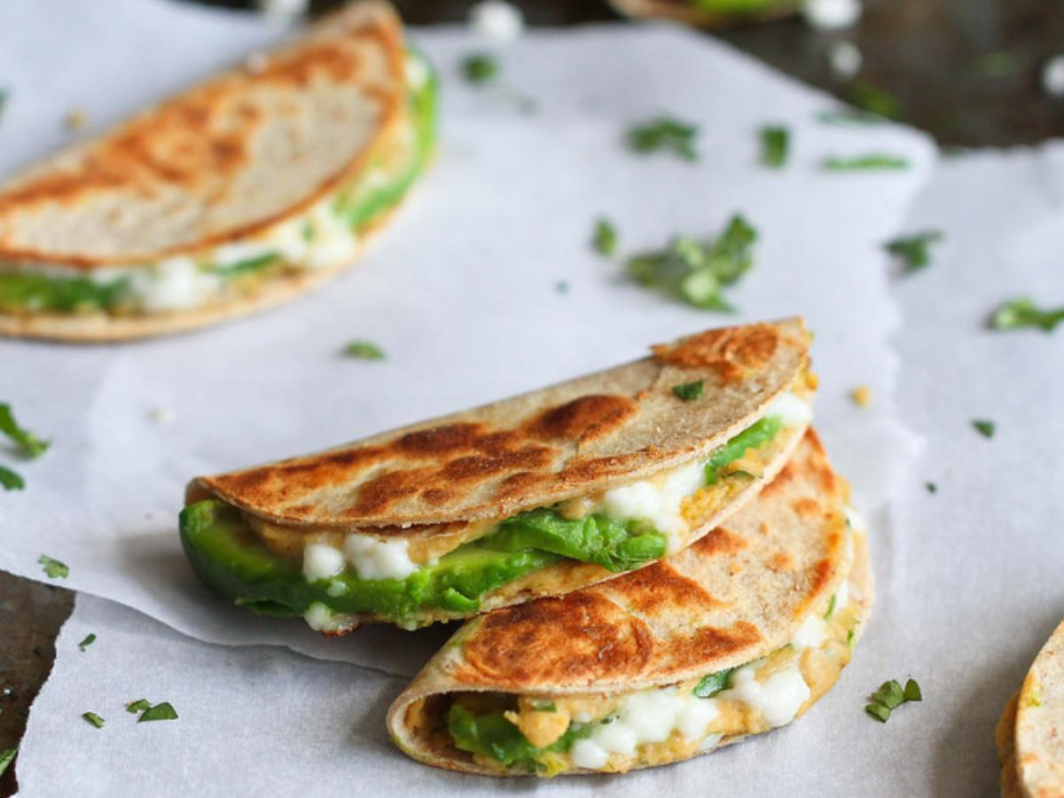 Mini Avocado and Hummus Quesadilla Healthy Recipe