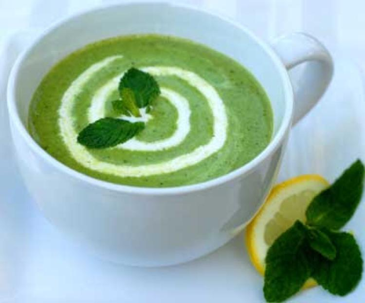 Minted Pea Soup Healthy Recipe