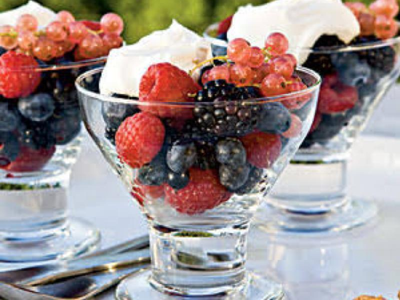 Mixed Berries with Orange Mascarpone Cream Healthy Recipe