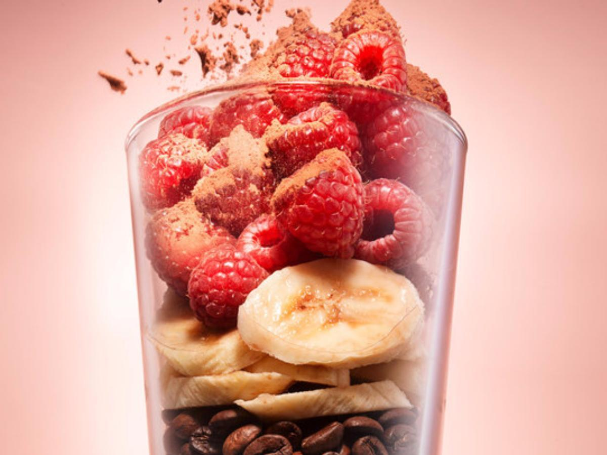 Mocha Berry Almond Smoothie Healthy Recipe