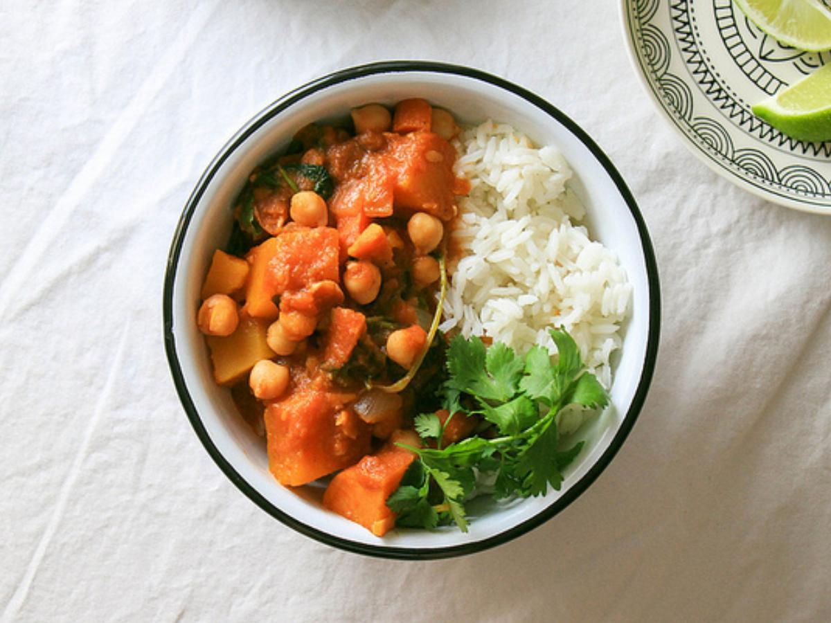 Moroccan Pumpkin and Chickpea Stew Healthy Recipe