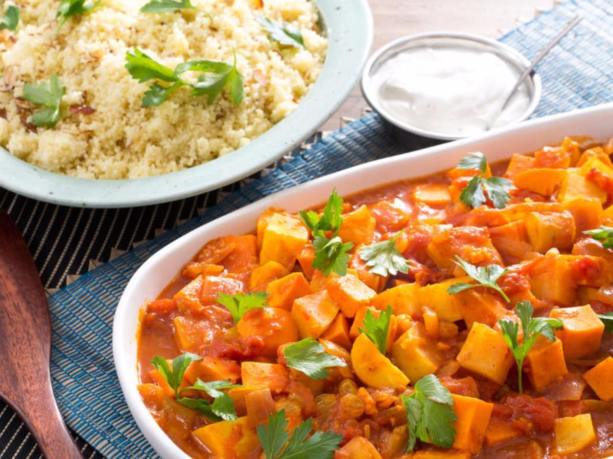 Moroccan Root Vegetable Tagine Healthy Recipe