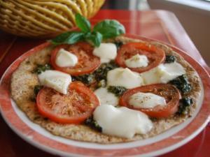 Mozzarella Tortilla Pizza Healthy Recipe