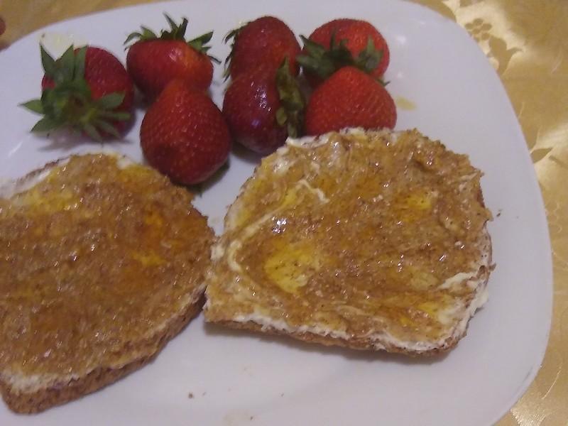 Multi-grain Toast with Almond Butter and Honey Healthy Recipe