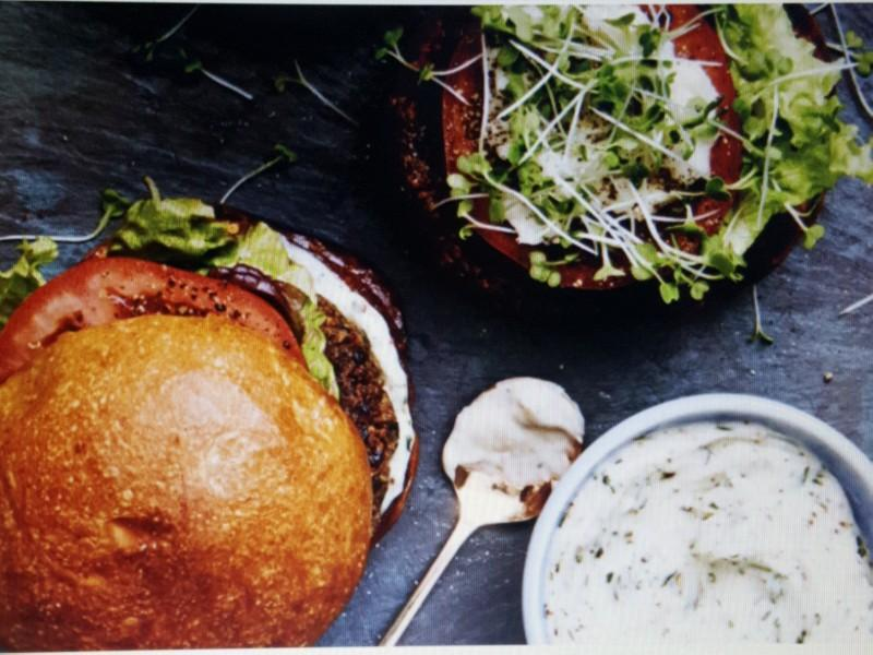 Mushroom-Quinoa Burger Healthy Recipe