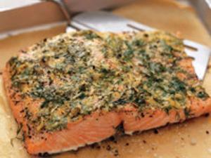 Mustard and Shallot Salmon Healthy Recipe
