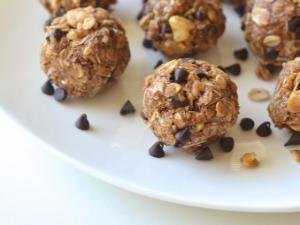 No-Bake Cookie Dough Energy Bites Healthy Recipe