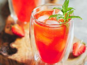 Non-Alcoholic Paleo Strawberry Mojito Healthy Recipe
