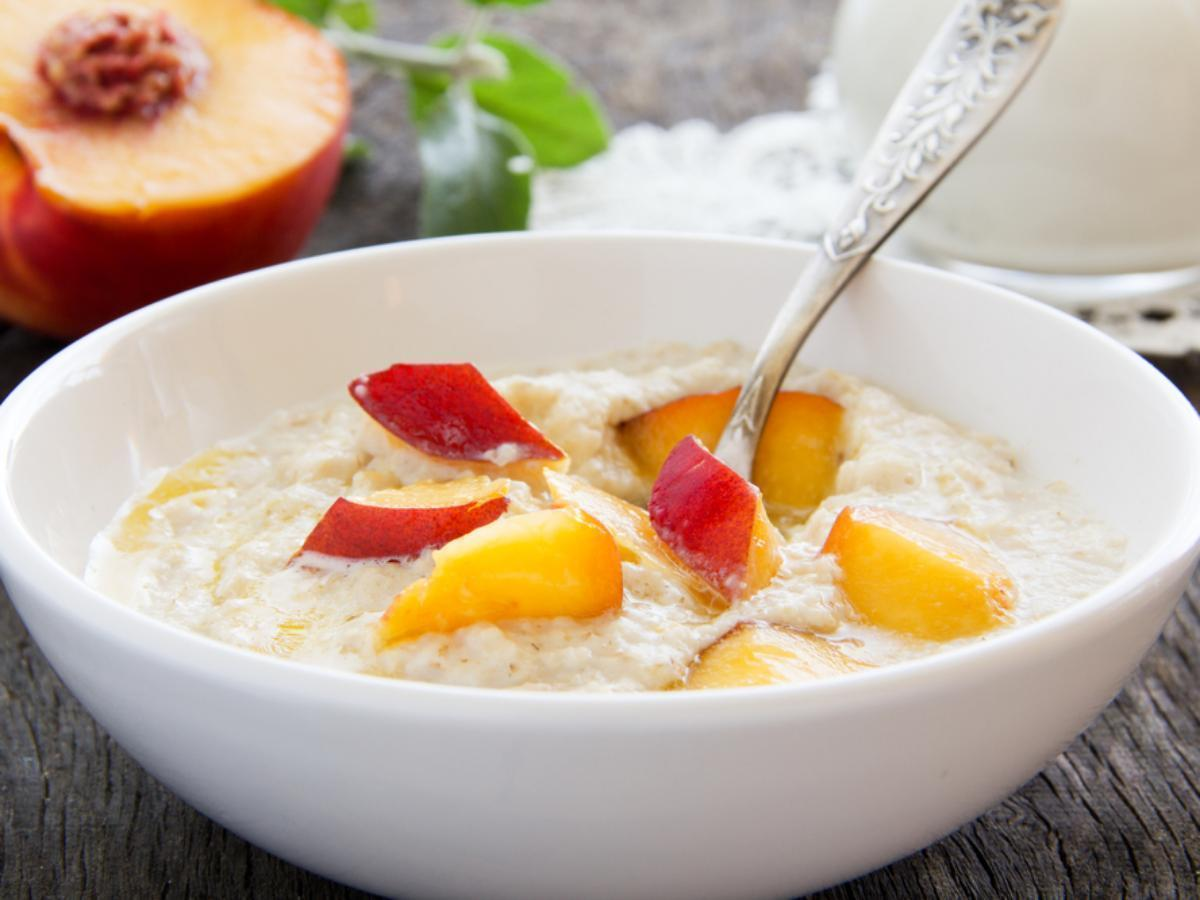 Oatmeal and peaches Healthy Recipe