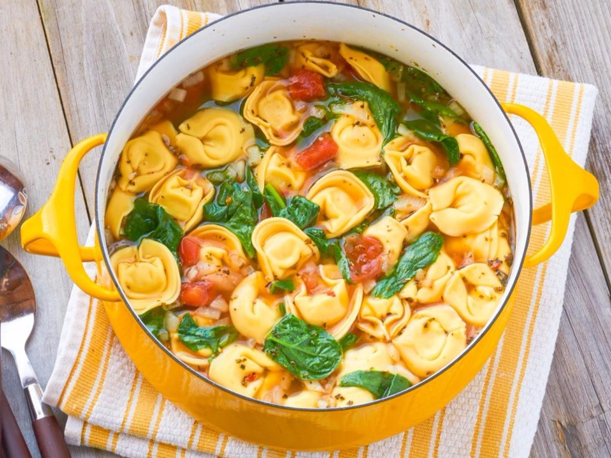 One-Pot Tortellini Soup Healthy Recipe