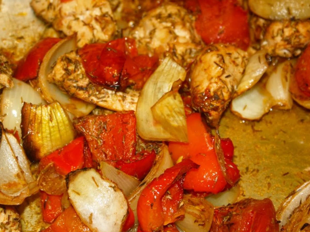 One-Tray Baked Chicken  Healthy Recipe