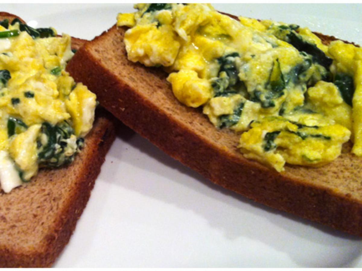 Open-Face Florentine Omelet Sandwich Healthy Recipe