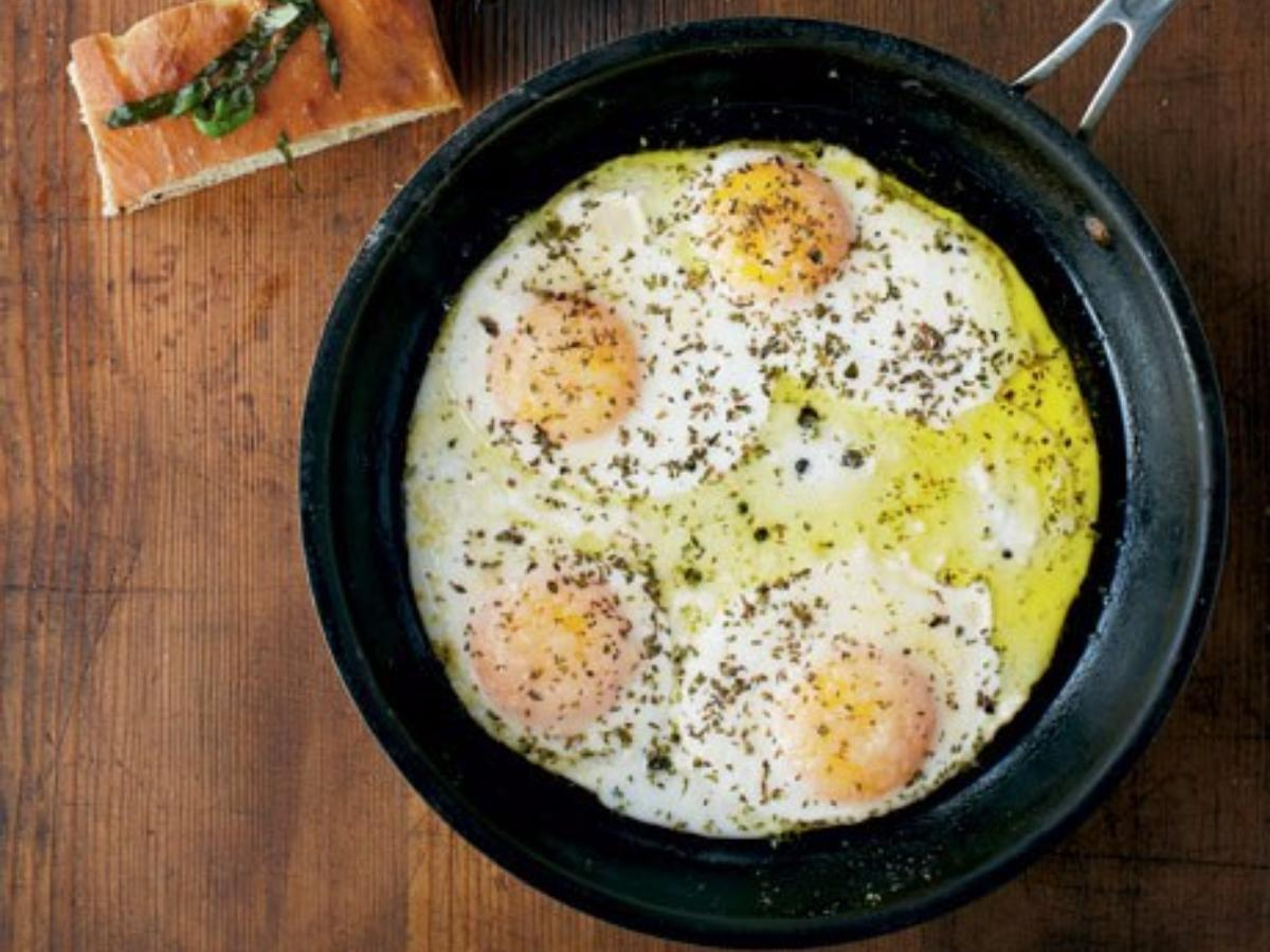 Oregano Eggs Healthy Recipe