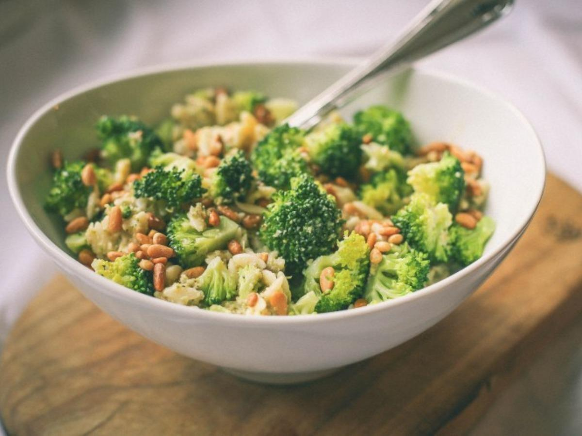 Orzo & Broccoli Pesto Salad Healthy Recipe