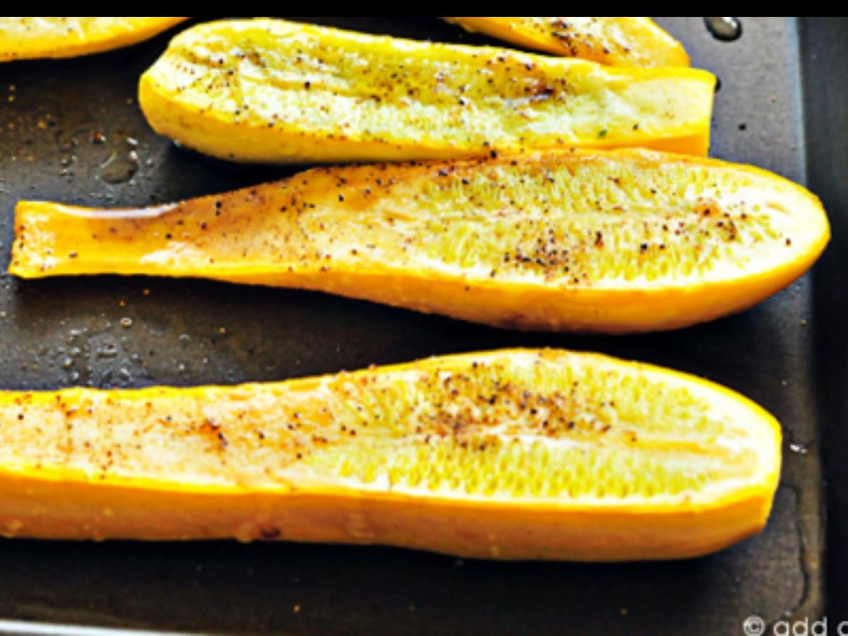 Oven Baked Summer Squash Healthy Recipe