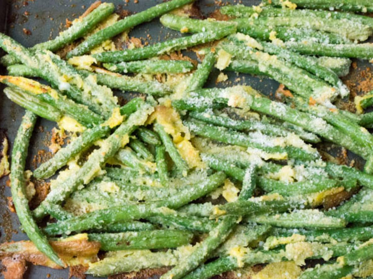 Oven Fried Garlic Parmesan Green Beans Healthy Recipe