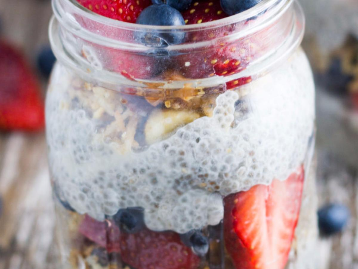 Overnight Paleo Chia Berry Breakfast Bowl Healthy Recipe