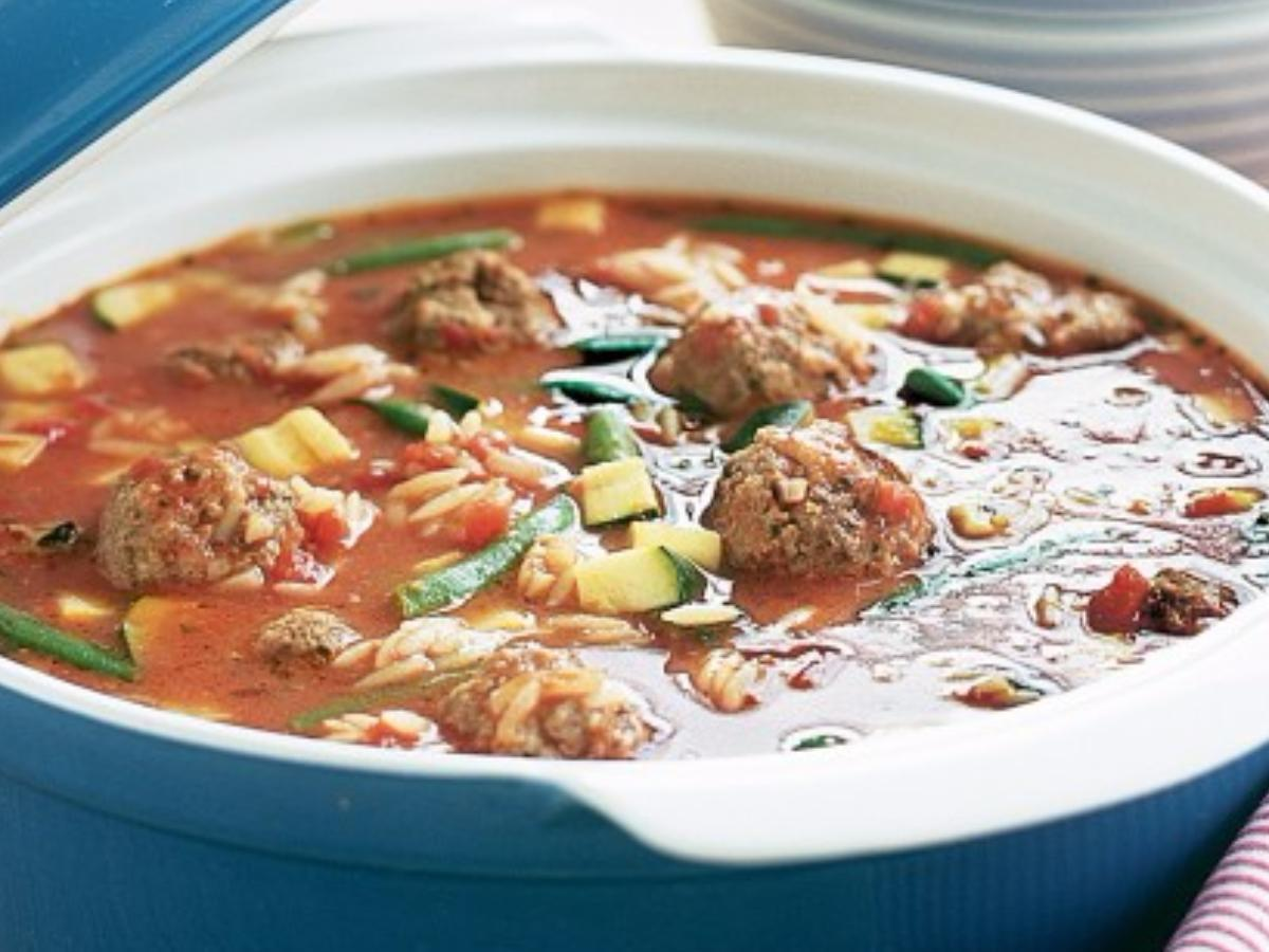 Paleo Italian Meatball Soup Healthy Recipe