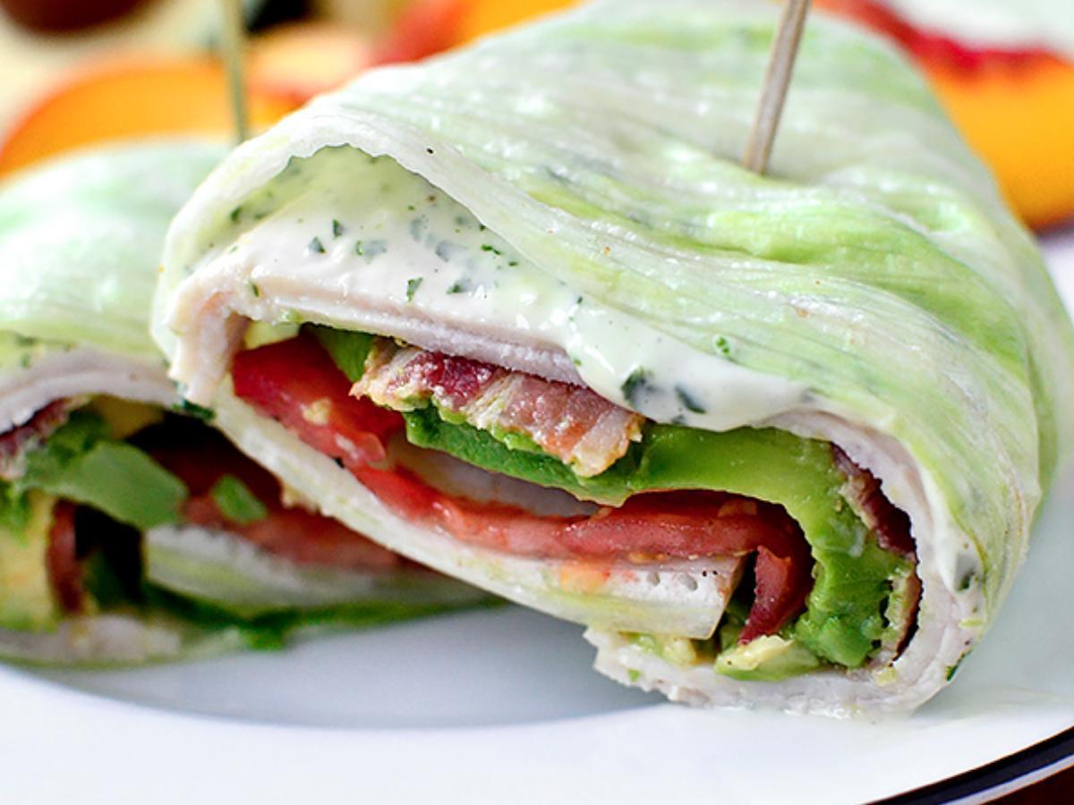 Paleo Lettuce Bacon and Turkey wraps Healthy Recipe