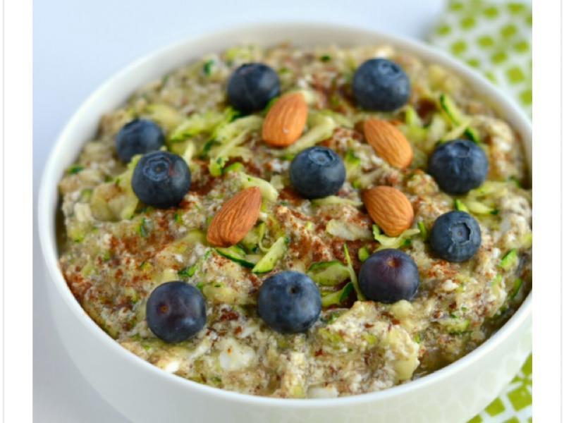 Paleo Zucchini Oatless Oatmeal (GF, Paleo, Low Cal) Healthy Recipe