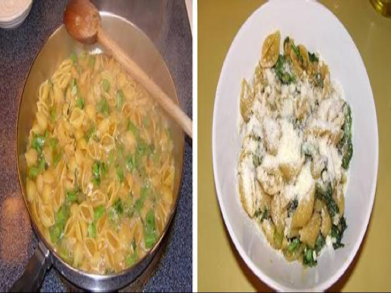 Pasta-Shell Risotto with Broccoli Rabe Healthy Recipe